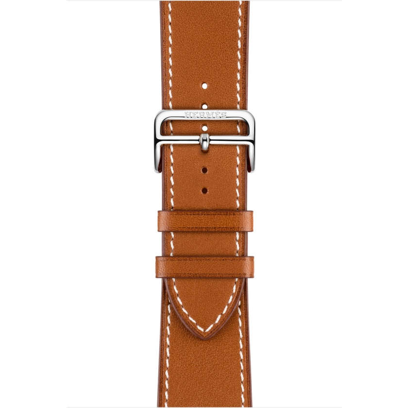 Apple Watch Hermès Series 4 GPS + Cellular 44mm Stainless Steel Case with Fauve Barenia Leather Single Tour Deployment Buckle