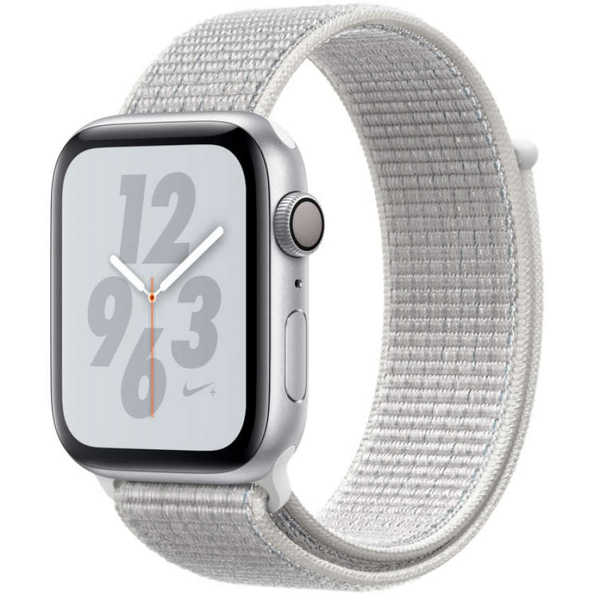 Apple Watch Nike+ Series 4 GPS 44mm Silver Aluminum Case with Summit White Nike Sport Loop