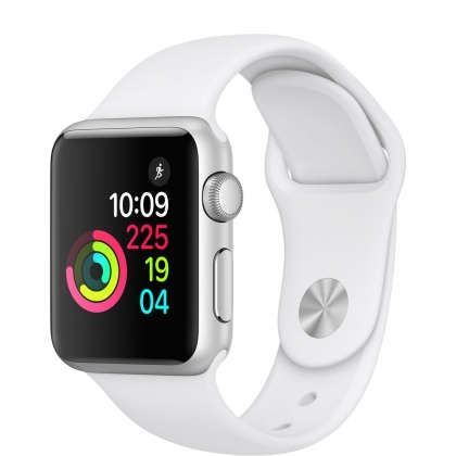 Apple Watch Series 1 38mm Silver Aluminum Case with White Sport Band
