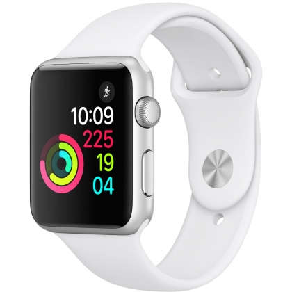 Apple Watch Series 1 42mm Silver Aluminum Case with White Sport Band