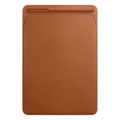 Leather Sleeve for 10.5‑inch iPad Pro/Air - Saddle Brown