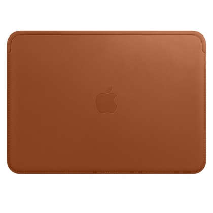 Leather Sleeve for 12‑inch MacBook - Saddle Brown