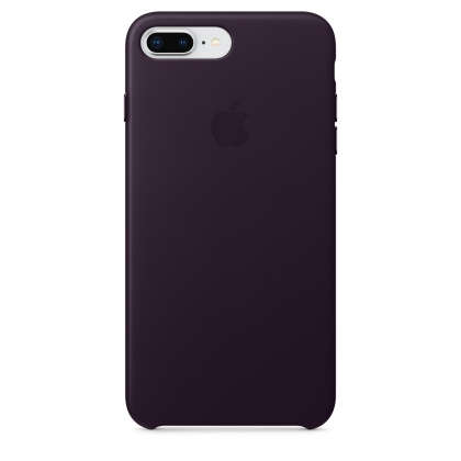 iPhone 8 Plus / 7 Plus Leather Case - Dark Aubergine