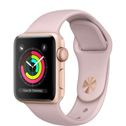 Apple Watch Series 3 GPS 38mm Gold Aluminum Case with Pink Sand Sport Band