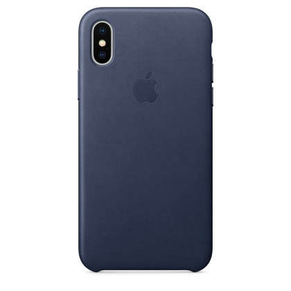 iPhone X Leather Case - Midnight Blue