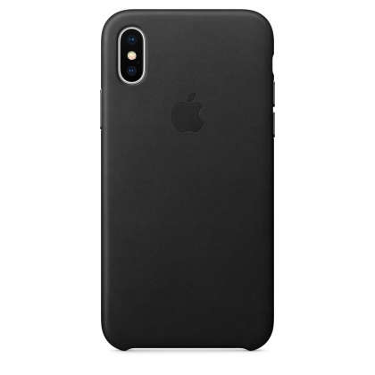 iPhone X Leather Case - Black