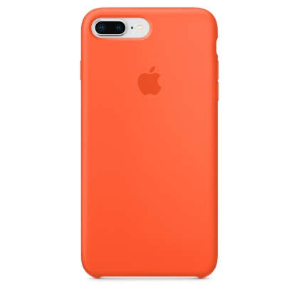 iPhone 8 Plus / 7 Plus Silicone Case - Spicy Orange