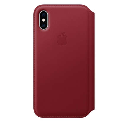 iPhone XS Leather Folio - (PRODUCT)RED