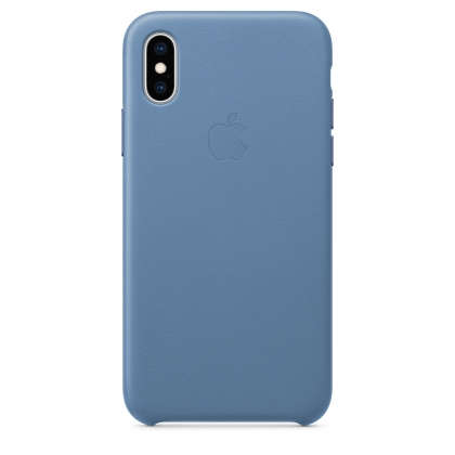 iPhone XS Leather Case - Cornflower