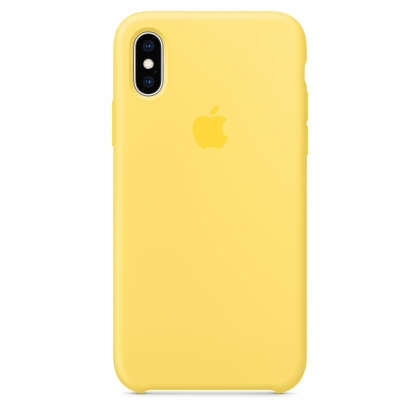 iPhone XS Max Silicone Case - Canary Yellow