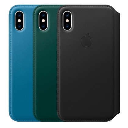 iPhone XS Leather Folio