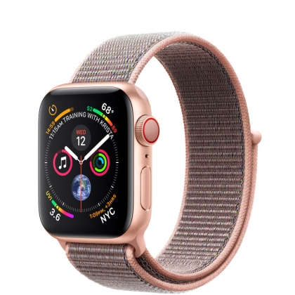 Apple Watch Series 4 GPS + Cellular 40mm Gold Aluminum Case with Pink Sand Sport Loop