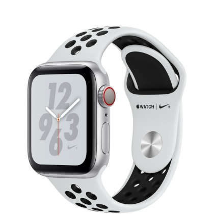 Apple Watch Nike+ Series 4 GPS + Cellular 40mm Silver Aluminum Case with Pure Platinum/Black Nike Sport Band