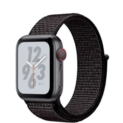 Apple Watch Nike+ Series 4 GPS + Cellular 40mm Space Gray Aluminum Case with Black Nike Sport Loop