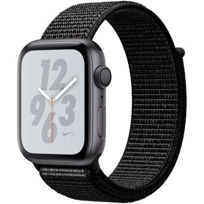 Apple Watch Nike+ Series 4 GPS 44mm Space Gray Aluminum Case with Black Nike Sport Loop