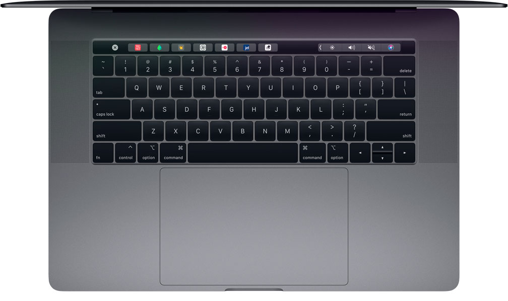 MacBook Pro 2018 - Keyboard and Trackpad